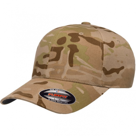 FLEXFIT CAPPELLO CLASSIC BASEBALL GENUINE MULTICAM ARID MC CAMO TAGLIA L/XL - FLEXFIT