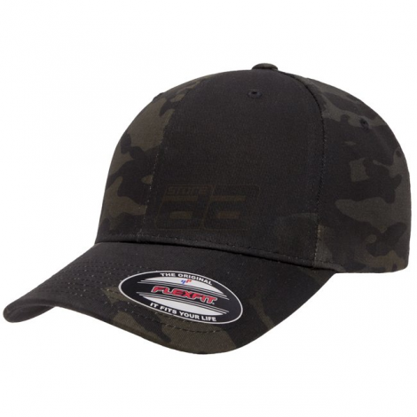 FLEXFIT CAPPELLO CLASSIC BASEBALL GENUINE MULTICAM BLACK MC CAMO TAGLIA S/M - FLEXFIT