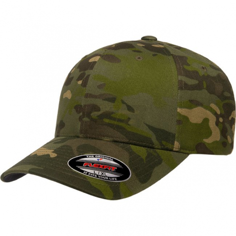 FLEXFIT CAPPELLO CLASSIC BASEBALL GENUINE MULTICAM TROPIC MC CAMO TAGLIA S/M - FLEXFIT