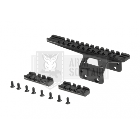 ACTION ARMY KIT FRONTALE SLITTE RAIL TATTICO PER T10 NERO - ACTION ARMY