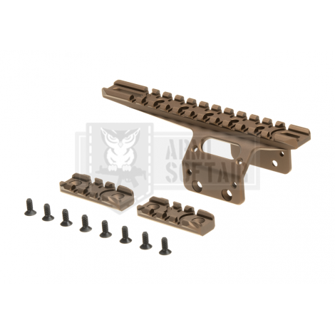 ACTION ARMY KIT FRONTALE SLITTE RAIL TATTICO PER T10 DE TAN - ACTION ARMY