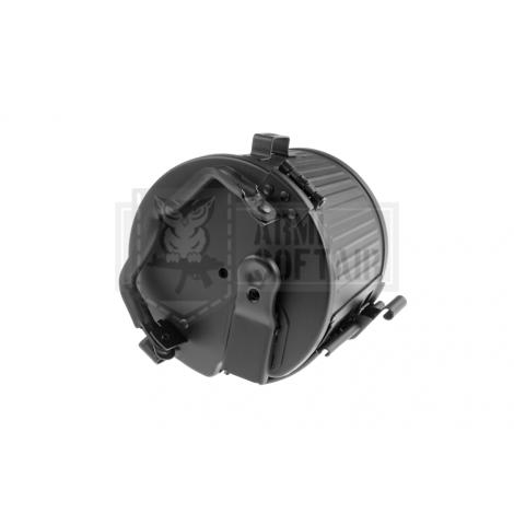 AGM BOX CARICATORE IN METALLO MAGGIORATO DRUM PER MG42 DA 2400 bb - AGM