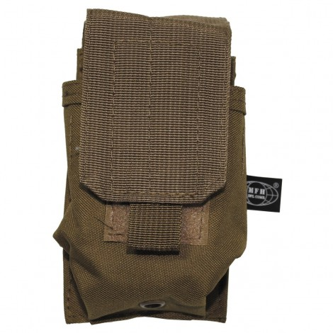 TASCA PORTA CARICATORI Single Ammu Pouch Molle small COYOTE CB TAN - MFH