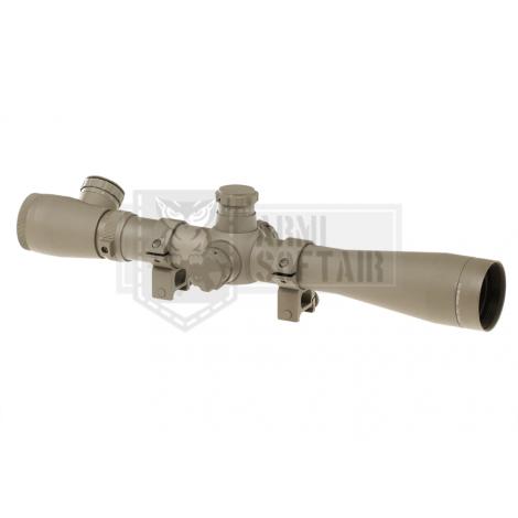 AIM O OTTICA TATTICA PROFESSIONALE IN METALLO MODELLO 3.5-10x40E-SF Sniper TAN DESERT - AIM-O
